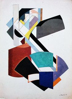 Non-Objective Composition, 1917. Alexander Rodchenko (1891-1956)  was a Russian artist, sculptor, photographer and graphic designer & one of the founders of constructivism. His work was heavily influenced by Cubism, Futurism, Malevich's Suprematism. While Rodchenko was a student of Tatlin's the interest in figuration that characterized his early work disappeared.