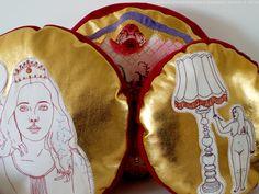 Goldies. Alexandra Drenth - Textile artist in Amsterdam - Netherlands. hand embroidery 2016