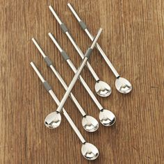 ~XOX  CHEFS Stainless-Steel Straw Spoons, Set of 6 | CHEFScatalog.com