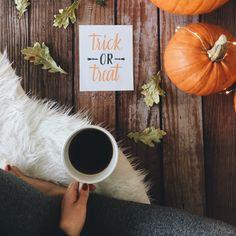 Trick or treat #halloween print snd my favorite coffee ❤️