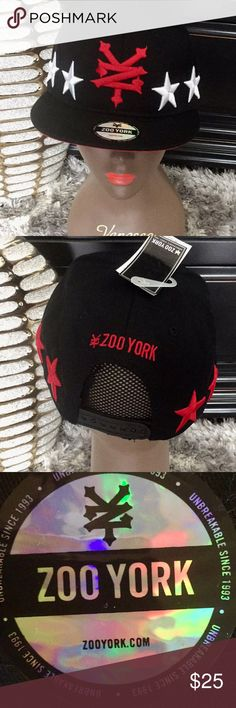 Zoo York Snap Back Cap Zoo York Snap Back Cap.  Color:  Black.  Size:  One size fit all Zoo York Accessories Hats