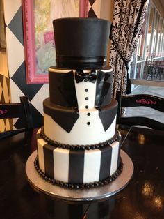 Tuxedo cake perfect for graduation or grooms cake | Flickr - Photo Sharing!