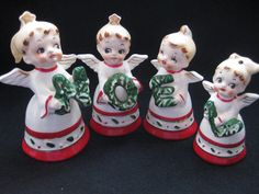 Vintage Japan NOEL Christmas Angel Bells