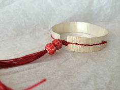 Bracelet - silver- hand crafted. sophie noens