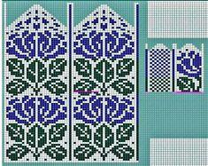Fair Isle Knitting Patterns, Fair Isle Pattern, Knitting Charts, Stitch Design, Cross Stitching, Needlepoint, Mittens, Knit Crochet, Photo Wall