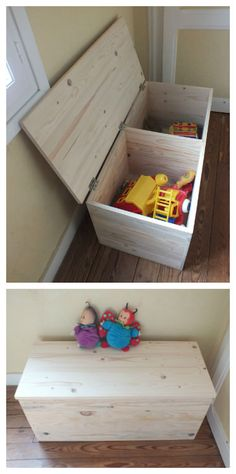 I made several storage boxes with recycled pallet wood planed and assembled. Children and parents can then paint a decoration or simply spend a varnish. J'