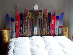 Dreaming of winter has never been this easy. Recycled Ski Headboards.