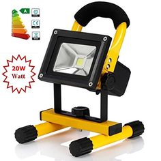 price error - Portable Work Light 20W Rechargeable Led Flood Light With 18650 Lithium Batteries IndoorOutdoor IP65 Waterproof Rechargeable Led SpotlightAdapter and Car Charger Included ** Read more at the image link. (This is an affiliate link) #LightingCeilingFans