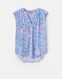 01e3e48fd Joules UK JAE Womens Sleeveless Top Blue Indienne Floral