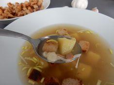 Super rychlá polévka. Tradiční recept na fantastickou polévku - česnečka Soup, Ethnic Recipes, Soups