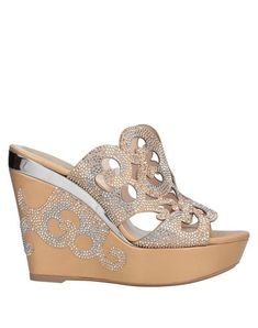 Rhinestones Solid color Round toeline Wedge heel Covered wedge Leather lining Rubber sole Contains non-textile parts of animal origin Rene Caovilla, Sportswear Brand, World Of Fashion, Wedge Heels, Luxury Branding, Soft Leather, Bag Accessories, Shopping Bag