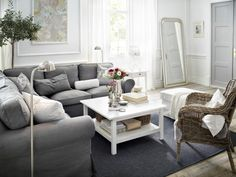 A beautiful living space is sure to warm Mom's heart all year long. EKTORP living room.
