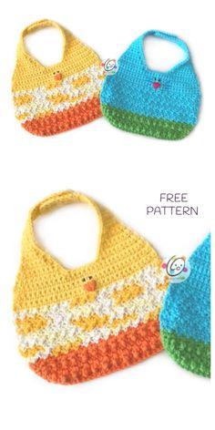 Crochet Baby Bibs, Crochet For Kids, Free Crochet, Crochet Gifts, Baby Bibs Patterns, Baby Knitting Patterns, Crochet Patterns, Crochet Bunny Pattern, Baby Sewing Projects