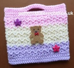 FREE crochet pattern for a Little Girl's Bag by Patterns For Crochet.