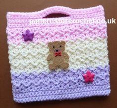 Free crochet pattern for little girls bag http://patternsforcrochet.co.uk/girls-bag-usa.html #patternsforcrochet
