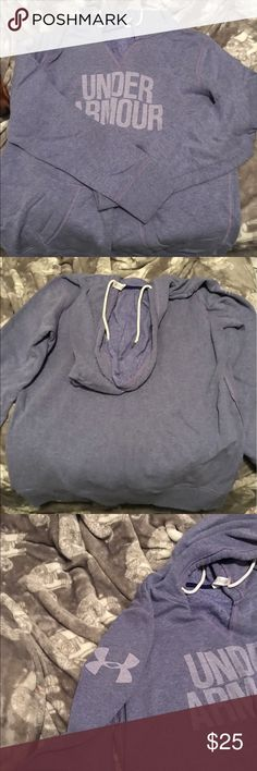 Purple under Armour hoodie 💜 💜 LIKE NEW 💜 purple under Armour hoodie , perfect condition no stains ! 💜 Under Armour Tops Sweatshirts & Hoodies