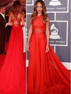 Amazing Red A-line Floor-Length prom dress / evening dress #prom #dress #promdress $188
