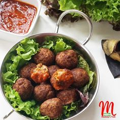 Meatballs mixed with overripe Nigerian plantain