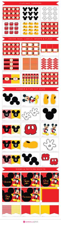 Mickey mouse Invitation Mickey mouse invite por GardellaGlobal