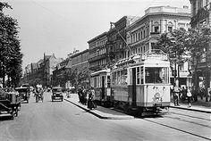 1925 Strassenbahn in der Lindenstrasse