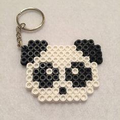 Panda Perler Bead Keychain