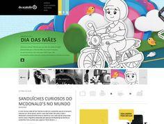 Design Agency website inspiration: Du.Scatolin. Sweet layout.