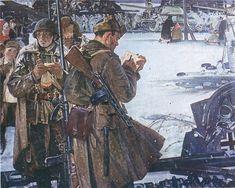#ВоенныеХудожники // Х.Я. Якупов. Фронтовые зарисовки.