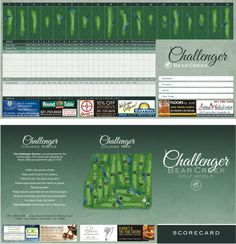 1000 images about golf scorecards by bench craft company