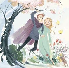 Beautiful Bride, the Queen of Spring from a Scottish legend in Storytime Issue 15. Art by Teresa Martinez (https://www.behance.net/teresamtz) ~ STORYTIMEMAGAZINE.COM