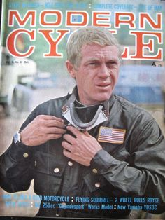 Image of scanned cover 'Modern Cycle' featuring Steve McQueen ISDT 1964 http://speedtracktales.com/2013/01/23/the-price-of-fame-steve-mcqueen-and-the-isdt/