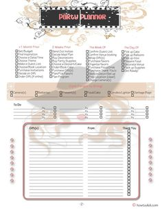 Free 5 Page party/event planner! #printables, #partyplanners, #howtodidi, #organization, #homemanagementbinders, #partyprintables, #eventplanners, #eventprintable Event Themes, Party Themes, Party Ideas, Plan For Life, Home Management, Food Preparation, Party Printables, Party Supplies, Meal Planning