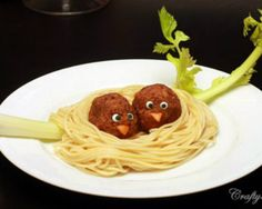 Food Fun Ideas - Fun Foods for Kids: Pasta Nest I may not make this, but it makes me smile… a lot! -Kid-Friendly Food Fun Ideas - Fun Foods for Kids: Pasta Nest I may not make this, but it makes me smile… a lot! Food Art For Kids, Cooking With Kids, Food For Children, Food Kids, Kid Food Fun, Kids Fun Foods, Cooking Tips, Cooking Pasta, Pasta Food