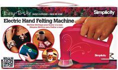 Amazon.com: Boye Simplicity Electric Hand Held Felting Machine: Arts, Crafts & Sewing