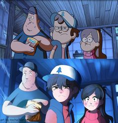 How Gravity Falls would look like in Anime Version. Eh pretty decent I suppose. Dipper looks the MOST like anime to me Gravity Falls Anime, Gravity Falls Fan Art, Gravity Falls Comics, Gravity Falls Dipper, Anime Vs Cartoon, Cartoon Shows, Cartoon Art, Anime Manga, Dipper Und Mabel