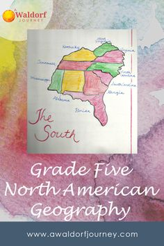 North American Geography Curriculum Guide - A Waldorf Journey 5th Grade Geography, Geography For Kids, Geography Lessons, Waldorf Curriculum, Waldorf Education, Math Education, Fifth Grade Math, Fourth Grade, Math Graphic Organizers