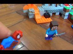 Minecraft Lego Jogo Game Steve Enderman Homem Aranha Hulk Homem de Ferro...