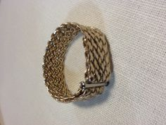 gold braided cuff