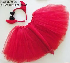 Red Devil Costume Red Devil Tutu Costume by APocketfulofBows