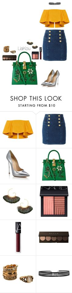 """""""LK #52"""" by liajkou ❤ liked on Polyvore featuring Balmain, Casadei, Dolce&Gabbana, Gas Bijoux, NARS Cosmetics and dresscast"""