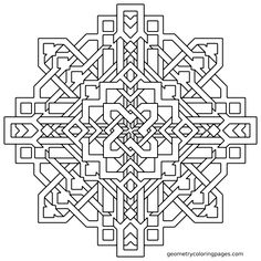 """""""Frank W."""" Mandala Coloring Page from geometrycoloringpages.com"""