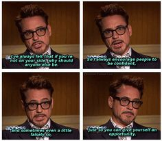 RDJ on confidence. This is great advice.