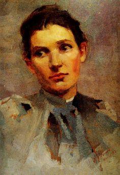 Portrait of the Artist Margaret Fleming, by Julian Rossi Ashton, Australia