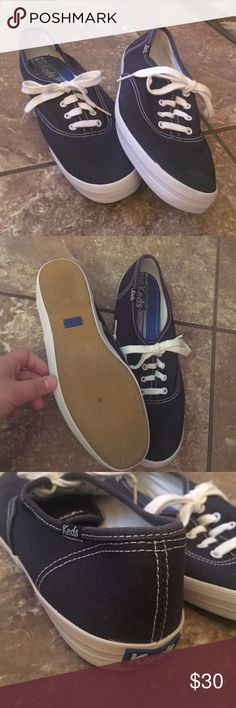Keds Champion Originals Keds classic style canvas shoe in Navy Blue. Hardly worn, look brand new, in great condition! US women's size: 8! Keds Shoes Sneakers