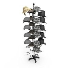 746a2619fd0 Buy Homdox 7 Tier Hat Display Rack Stand Rotating Hat Rack Adjustable Metal  Free Standing Floor Stand for Baseball Caps