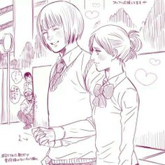 LOL Looks like someone is jealous of Armin & Annie From #AttackonTitan #SNK or should I say attack on highschool