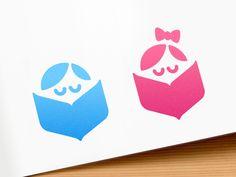 Interactive book logo by Alexander Yaremchuk #Design Popular #Dribbble #shots