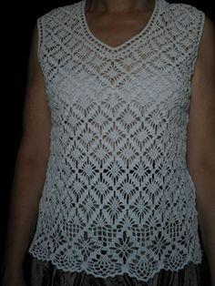 Delicadezas en crochet Gabriela: Blusa sin mangas
