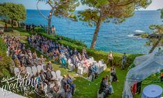 Romantic sea view Italian wedding ceremony