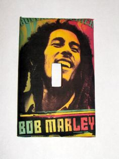Light Switch Cover  Light Switch Bob Marley Rasta by TurtleboneToo, $8.00