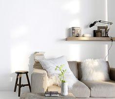 <span>Esprit scandinave</span><br/>Il fait merveille avec le bois clair et les matières duveuteuses ! Ultra lumineux et apaisant, la peinture blanc lacté donne au salon un esprit scandinave et cocooning comme on les aime. http://www.castorama.fr/store/pages/zoom-sur-colours-collection-blanc-lacte.html
